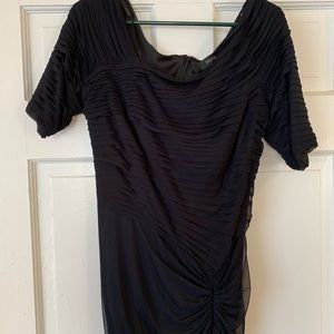 Black Tadashi Shoji formal pleated gown